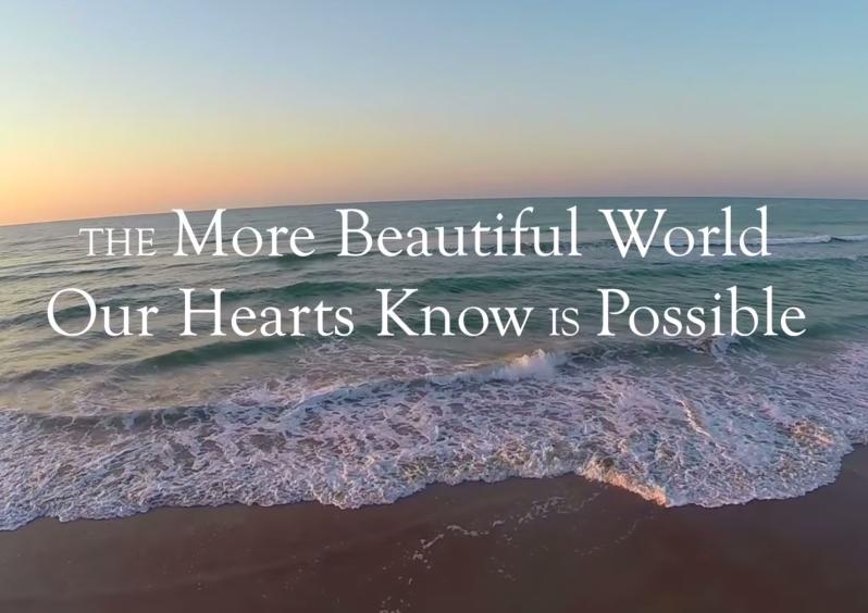 「私たちの心が実現できると知っている より美しい世界」